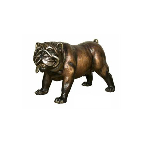 Bronze Bull Dog Statue Metropolitan Galleries Inc