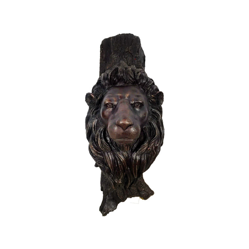 SRB10071 Bronze Lion Head Wall Sculpture by Metropolitan Galleries Inc