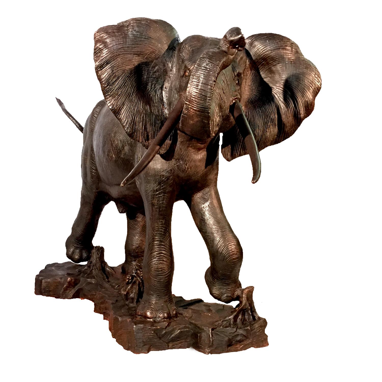 Bronze Elephant Sculpture | Metropolitan Galleries Inc