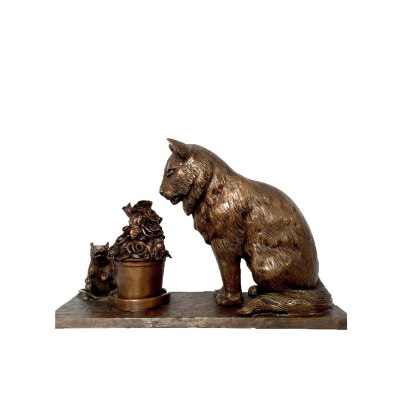 SRB30532 Bronze Cat and Mouse Sculpture Metropolitan Galleries Inc.