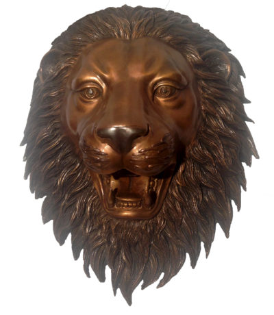 SRB47243 Bronze Lion Face Wall Fountain Metropolitan Galleries Inc.