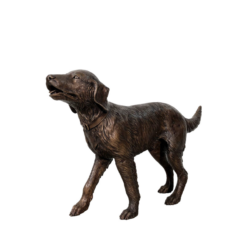 SRB47266 Bronze Golden Retriever Dog Sculpture by Metropolitan Galleries Inc