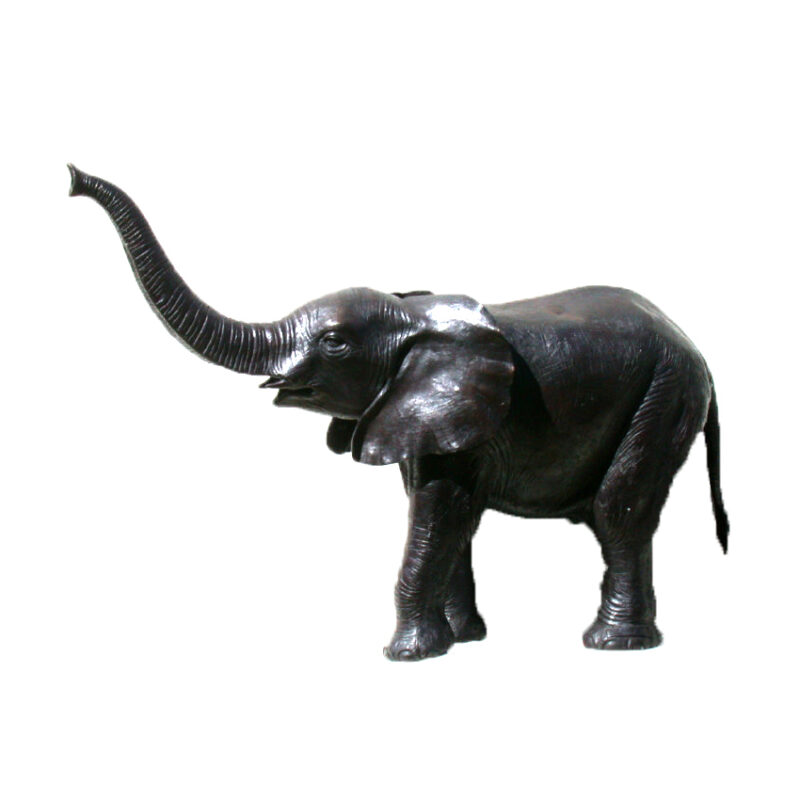 SRB47533 Bronze Baby Elephant Fountain Sculpture by Metropolitan Galleries Inc
