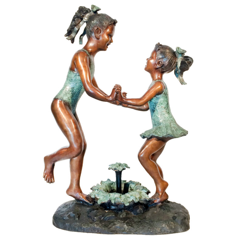SRB029368 Beach Girls Dancing Fountain Sculpture Metropolitan Galleries Inc.