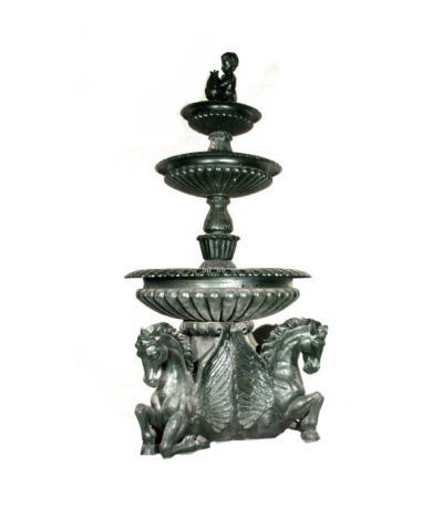 INF300 Iron Seahorse Tier Fountain Metropolitan Galleries Inc.