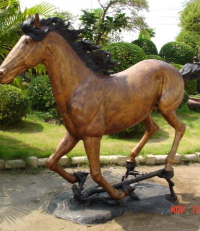 SRB10102 Bronze Running Horse Sculpture Metropolitan Galleries Inc.