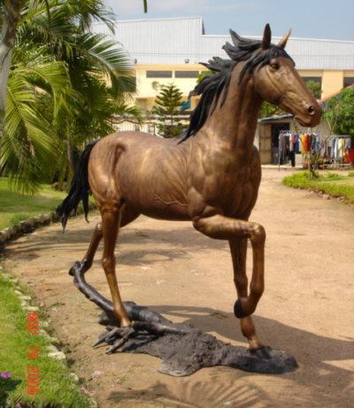 SRB10103 Bronze Running Horse Sculpture Metropolitan Galleries Inc.