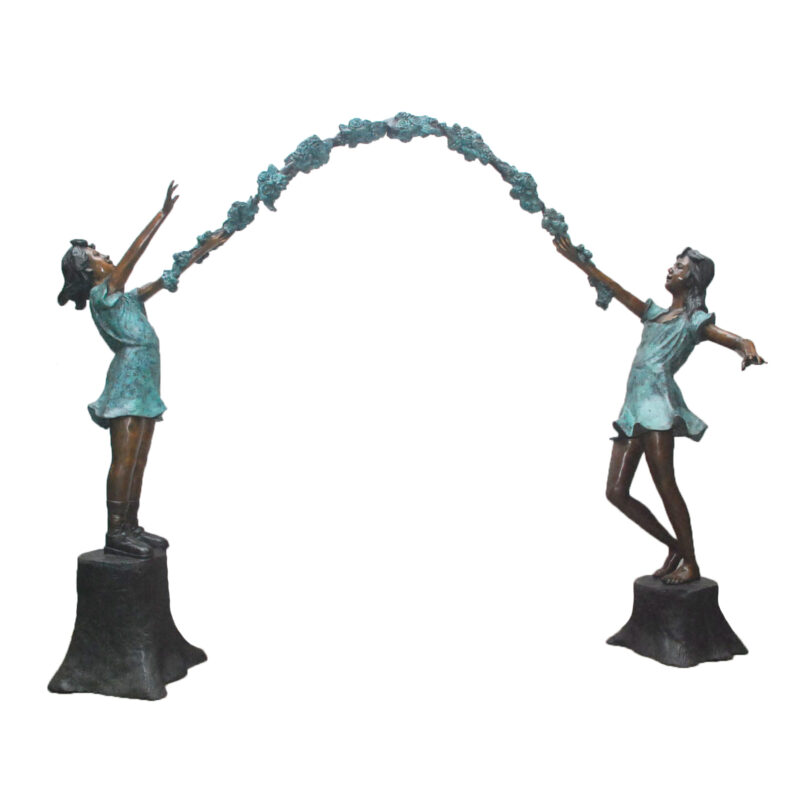 SRB028605 Bronze Arbor Girls Sculpture Metropolitan Galleries Inc