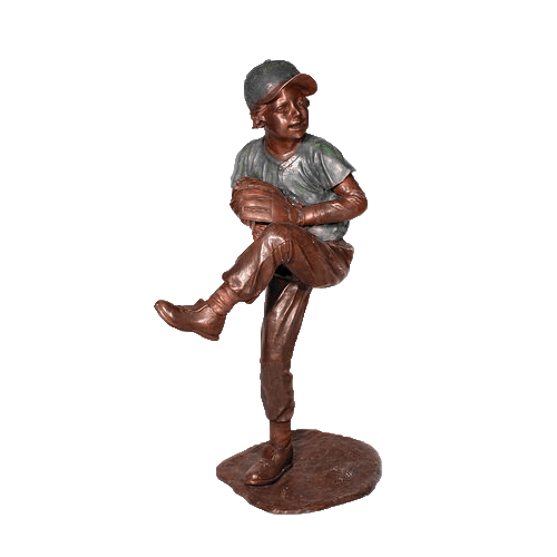 SRB050095 Bronze Baseball Pitcher Sculpture by Metropolitan Galleries Inc