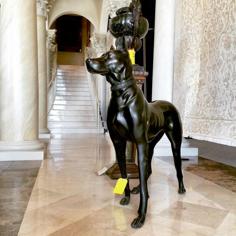 SRB15021 Bronze Doberman Sculpture Metropolitan Galleries Inc.