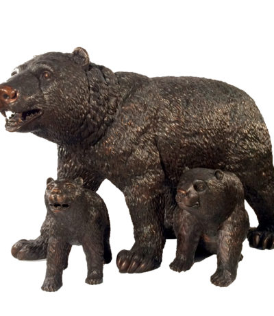 Cast Bronze Bear Family