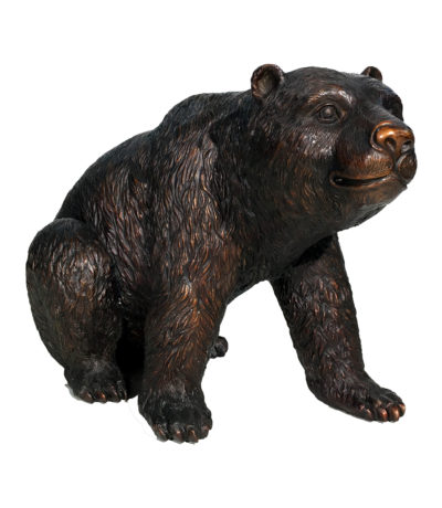 Bronze Medium Sitting Bear Sculpture Metropolitan Galleries Inc.