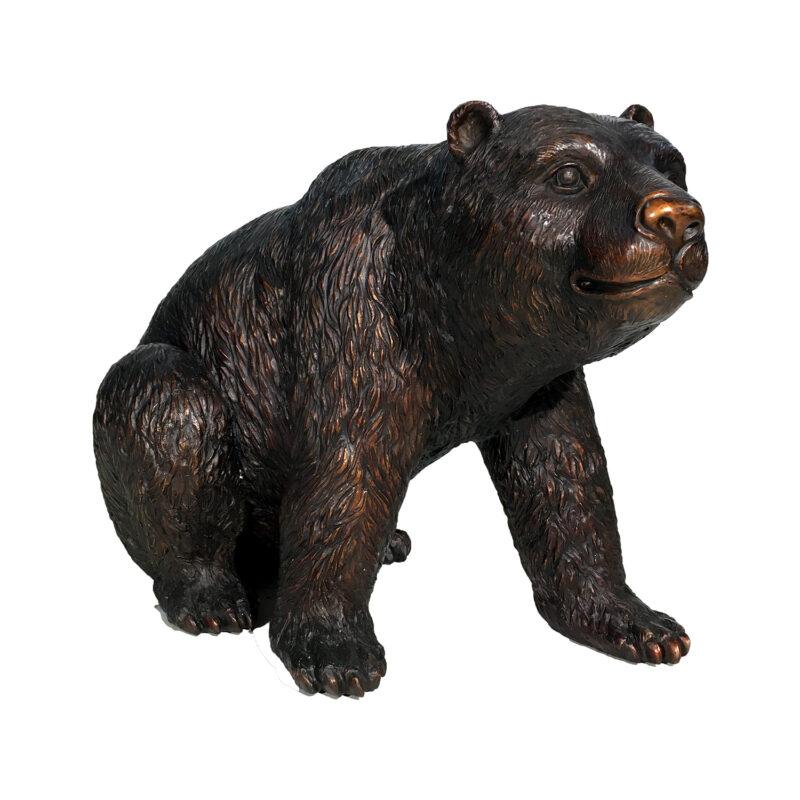 Bronze Medium Sitting Bear Sculpture Metropolitan Galleries Inc.