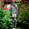 Bronze Golf Caddy Lantern Sculpture