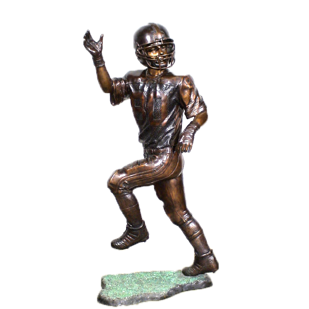 SRB25448 Bronze Football Player Sculpture metropolitan Galleries Inc.