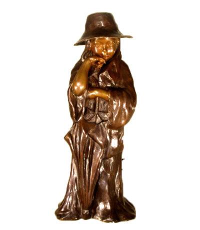 SRB43571 Bronze Standing Girl Sculpture Metropolitan Galleries Inc.