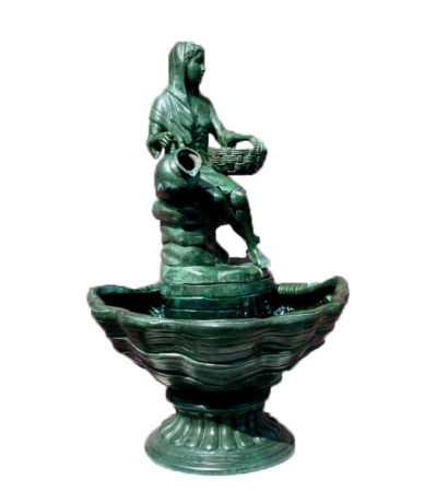 SRB44476 Bronze Lady on Shell Fountain Metropolitan Galleries Inc.
