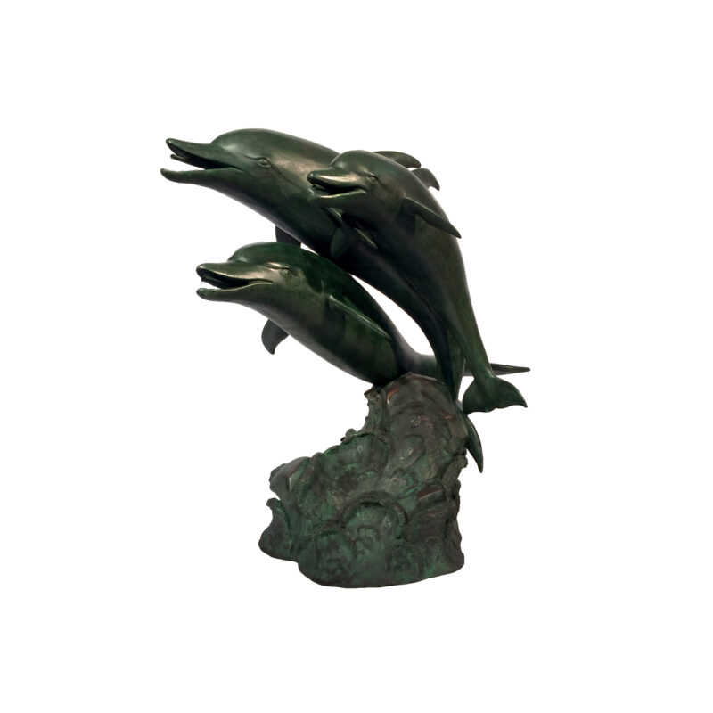 SRB45867 Bronze Three Dolphins Fountain Sculpture by Metropolitan Galleries Inc