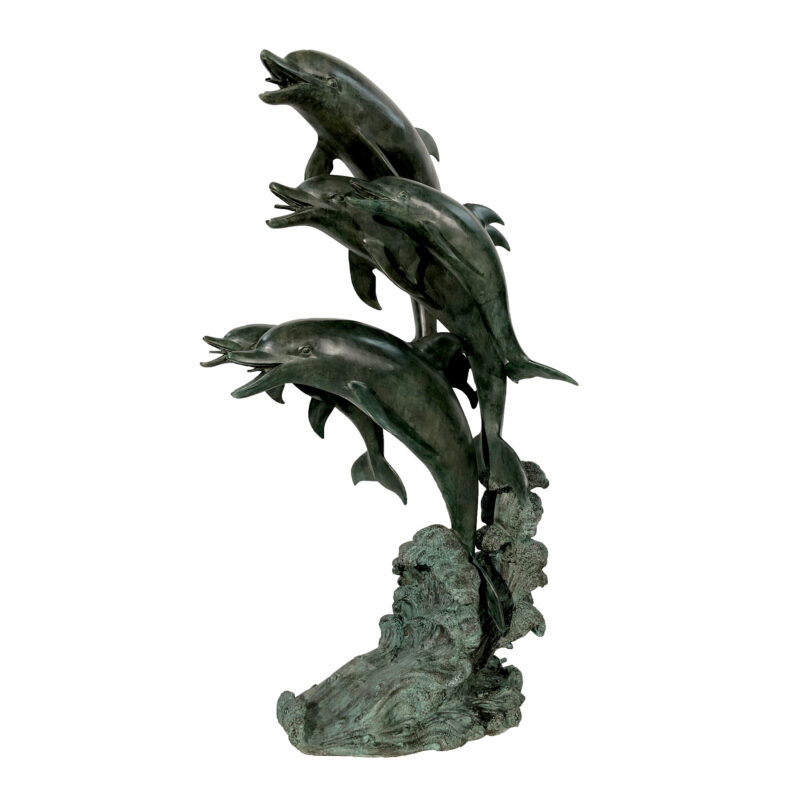 SRB47709 Bronze Five Dolphins Fountain Sculpture by Metropolitan Galleries Inc