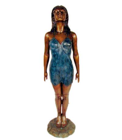SRB48729 Bronze Standing Lady Sculpture Metropolitan Galleries Inc.