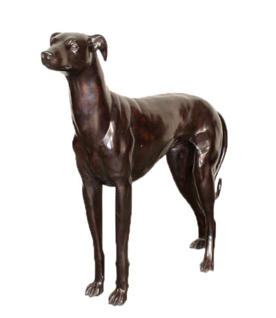 Bronze Whippet Dog Sculpture Metropolitan Galleries Inc. Bronze Dog Sculptures