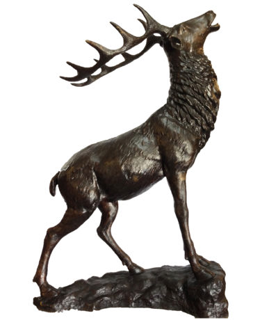 SRB704568 Bronze Rearing Elk Sculpture Metropolitan Galleries Inc.