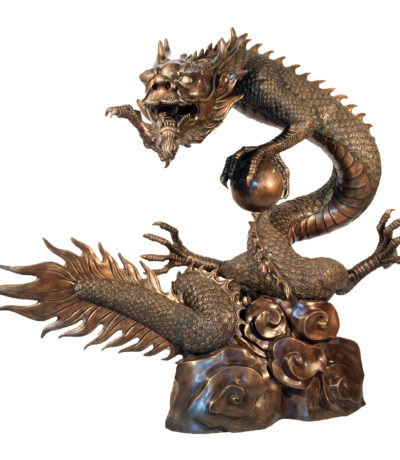 Bronze Dragon Fountain Sculpture Large Metropolitan Galleries Inc.