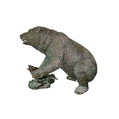SRB705565 Bronze Bear with Fish Sculpture by Metropolitan Galleries Inc