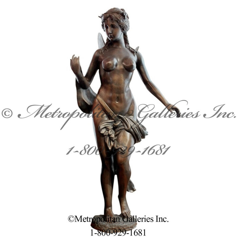 SRB84037 Bronze Dragonfly Girl Sculpture Metropolitan Galleries Inc.