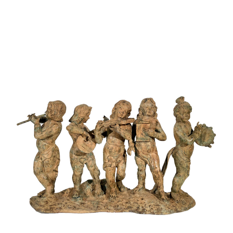 SRB992270 Bronze Five Musicians Sculpture by Metropolitan Galleries Inc