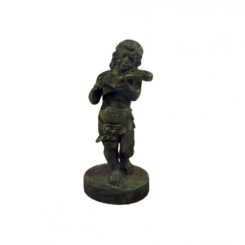 SRB992273 Bronze Boy Violinist Sculpture by Metropolitan Galleries Inc