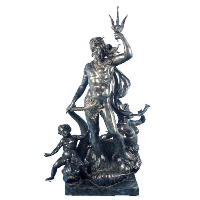 SRB992305 Bronze Children with Neptune Fountain Sculpture Metropolitan Galleries Inc.