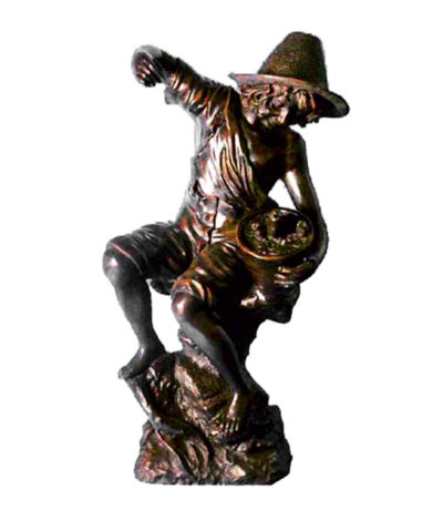 SRB992478 Bronze Boy on Stump Fountain Sculpture Metropolitan Galleries Inc.