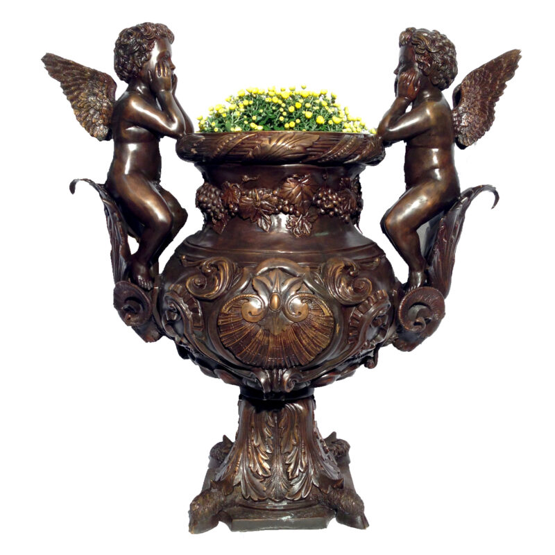 SRB43431 Bronze Cupids Urn Metropolitan Galleries Inc.
