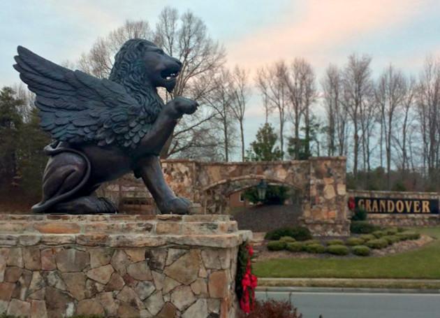 Massive Bronze Gryphon Sculpture Grandover