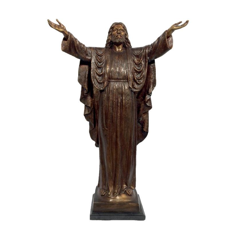 SRB029505 Bronze Jesus with Arms Open Sculpture Metropolitan Galleries Inc.