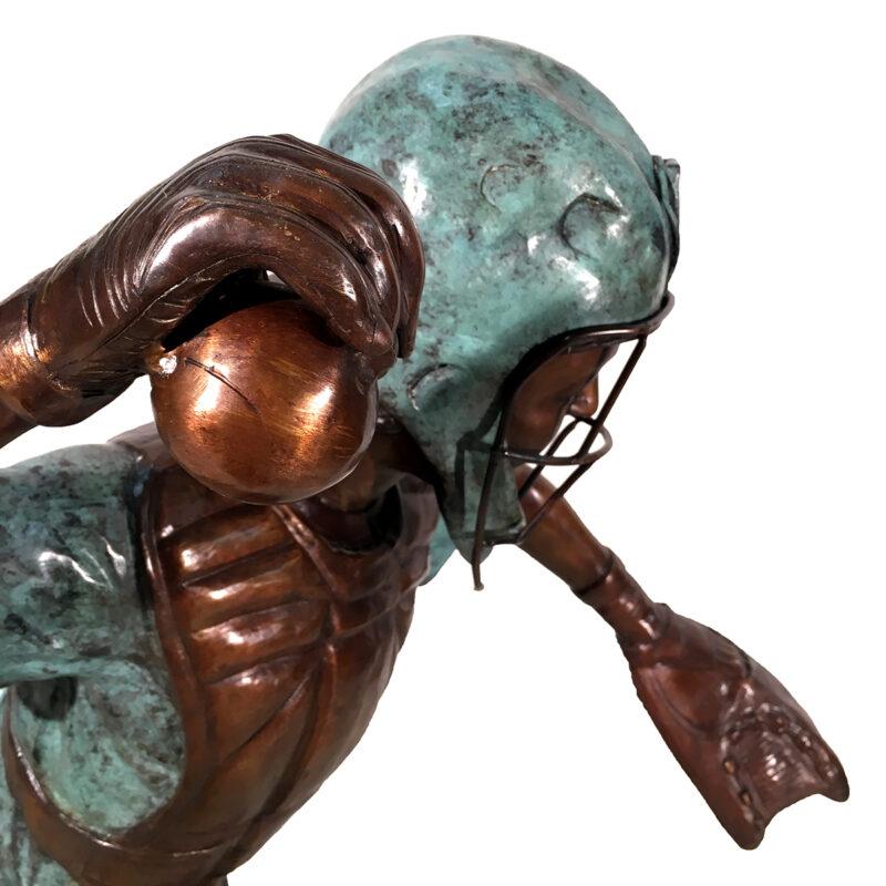 SRB094378 Bronze Baseball Player Sculpture Metropolitan Galleries Inc.