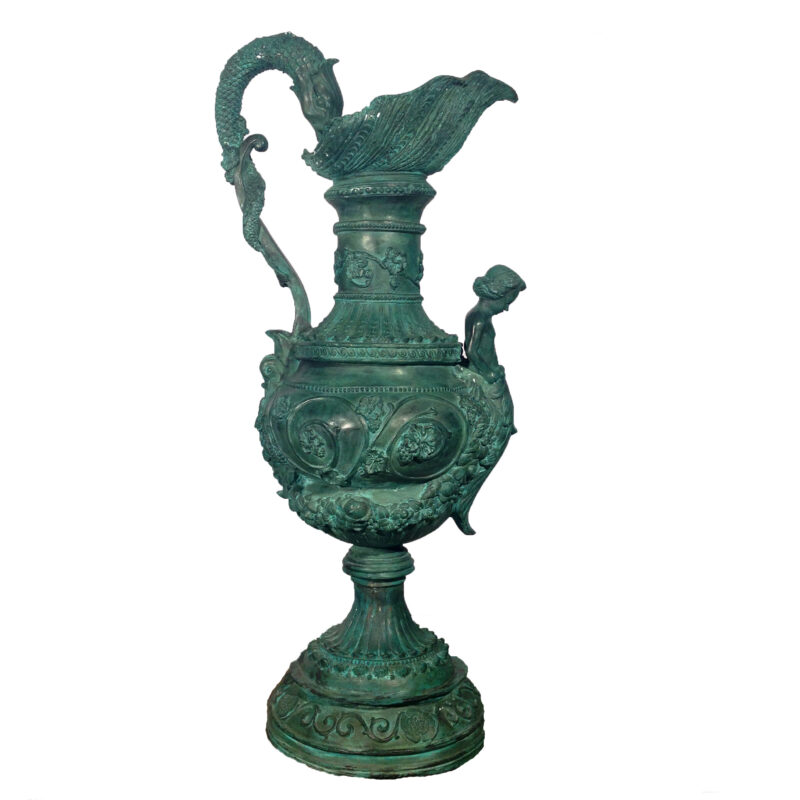 SRB10079 Bronze Elegant Urn with Handle Metropolitan Galleries Inc.