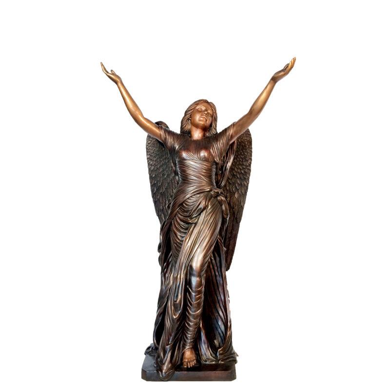 SRB43042M Bronze Angel of Mercy Sculpture Medium Metropolitan Galleries Inc.