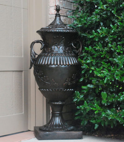 Cast Bronze Classical Urn with Lid Metropolitan Galleries Inc Bronze Statuary and Fountains