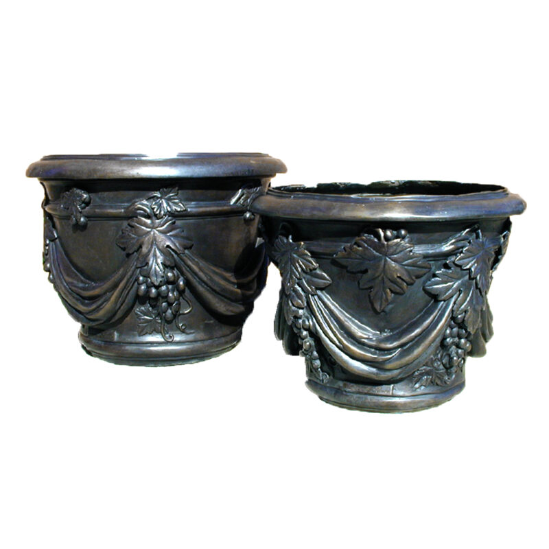 Bronze Planter Urn Set Metropolitan Galleries Inc. Patio and Garden Planters