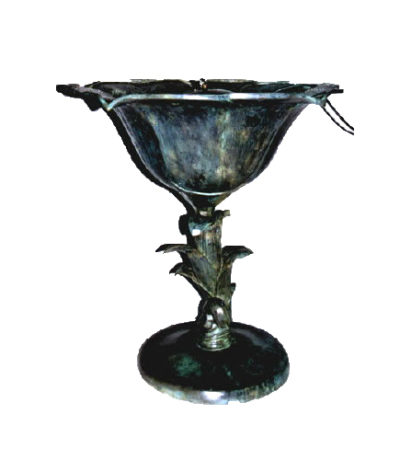SRB43608 Bronze Flower Vase Fountain Sculpture Metropolitan Galleries Inc.
