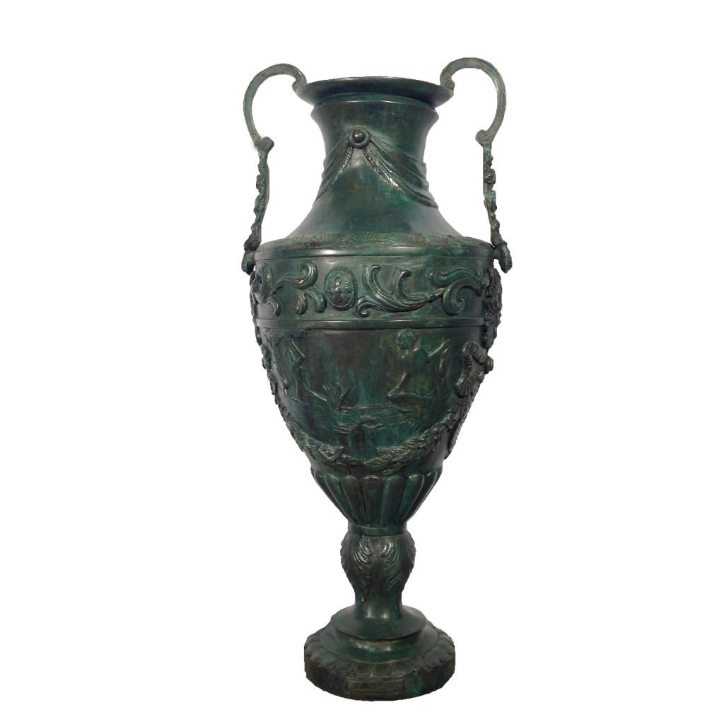 Bronze Loop Handle Vase Metropolitan Galleries Inc