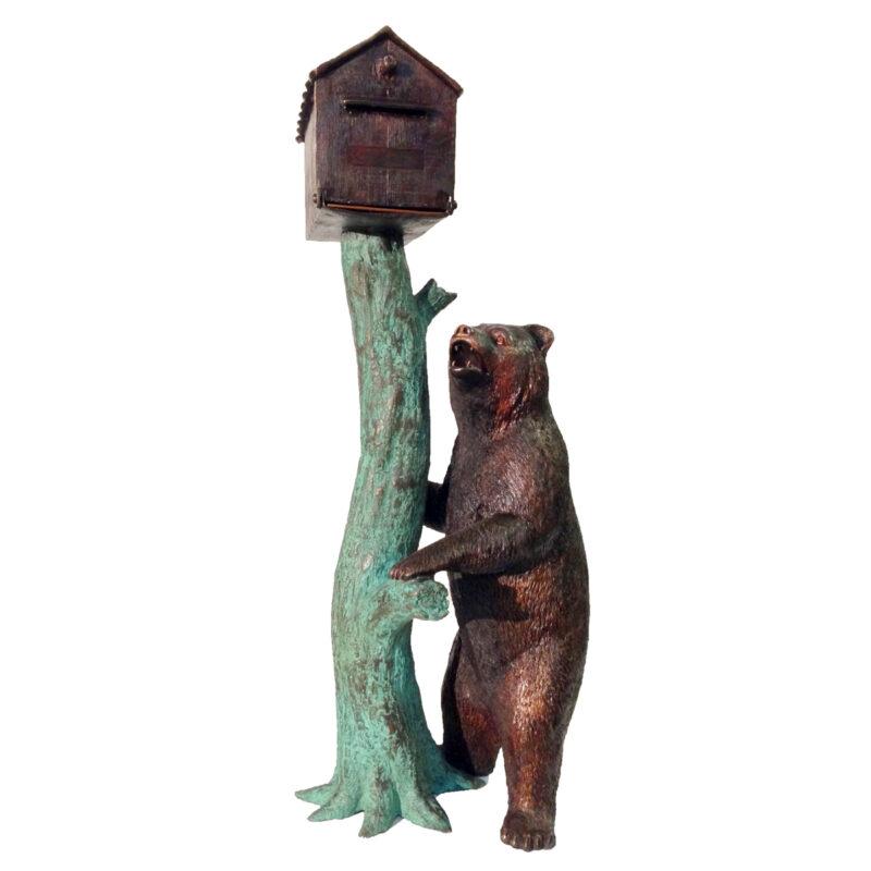 SRB48388 Bronze Bear Mailbox Sculpture by Metropolitan Galleries Inc