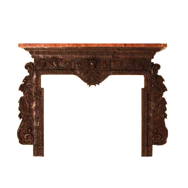SRB80006 Bronze Fire Place Surround Marble Mantle Metropolitan Galleries Inc.
