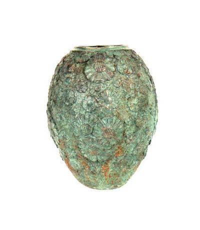 SRB81380 Bronze Verdigris Vase