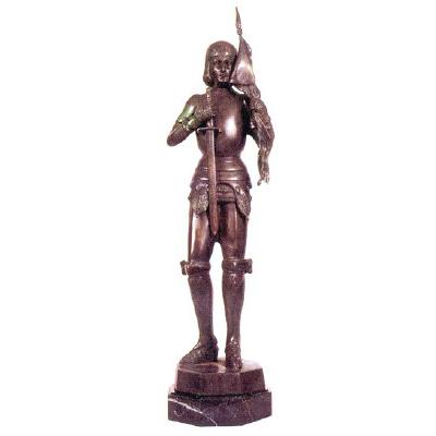 SRB81414 Bronze Joan of Arc Sculpture Metropolitan Galleries Inc.