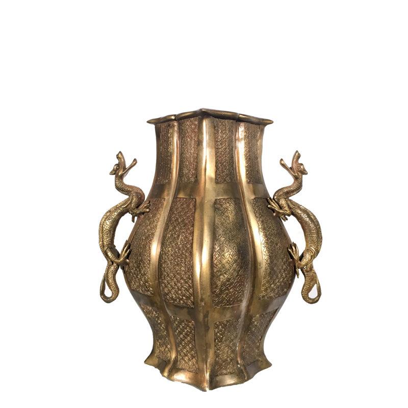 SRB81452 Bronze Dragon Vase Metropolitan Galleries Inc.