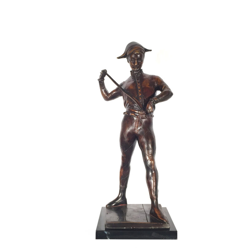 SRB81839 Bronze Man with Sword Sculpture on Marble Base Metropolitan Galleries Inc.