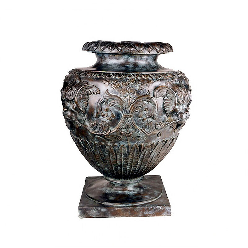SRB85123 Bronze Floral Planter Urn by Metropolitan Galleries Inc